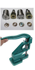 Hand Press Machine and 15mm Heavy Duty Press Studs Setting Tool Die Set