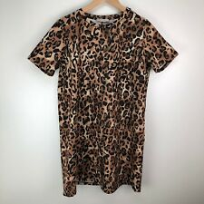 NWT ZARA AW18 SHIFT DRESS WITH ANIMAL PRINT PIPED SEAMS 9878//171