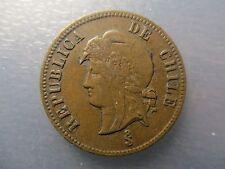 CHILE SANTIAGO 2 1/2 CENTAVOS 1886