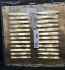 CARLISLE Brass 240mm x 240mm ottone lucido con cappuccio Louvre Ventilazione Cover