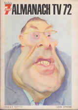 C1 ALMANACH de la TV 1972 Tele 7 Jours ILLUSTRE Leon ZITRONE Humour MULATIER