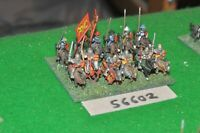 15mm medieval / english - men at arms 12 figs - cav (56602)