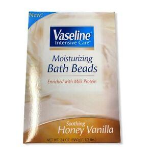 Vaseline Intensive Care Moisturizing Bath Beads Honey Vanilla NIB Relax Soothe