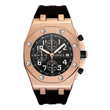 Relojes Hombre Men's Watch Silicone Band Chronograph Waterproof Military Watches