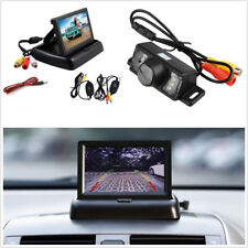 "Wireless Wide Angle Car License Plate Reverse Camera Night Vision 4.3""HD Monitor"