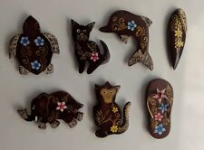 Fridge Magnets Hand Painted Sono Wood Beautifully Crafted Various Designs