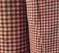 """HOMESPUN Red Checks, 2 sizes available, 44/45"""" wide, by the yard"""