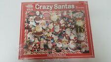 "NEW - ""Crazy Santas"" Jigsaw Puzzle 1000 Piece White Mountain Puzzles 5415"