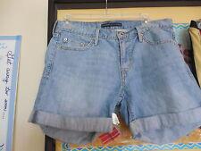 "LEVI'S ""Blue Denim Shorts"" 2 Front, 2 Rear,1 Watch Pocket w/Cuffed Legs Size 6"