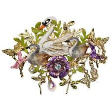 Kirks Folly Fairyland Swans Pin Pendant Fairies & Enchanted Charms ~2017 Release