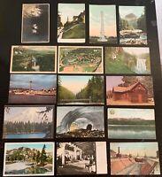 Lot of 16 Original Vintage Postcards - Washington - Seattle, Ice Caves, Tacoma+