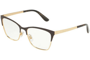 New Dolce & Gabbana DG1310 1320 52mm Matte Brown Gold Eyeglasses RX Frames Italy