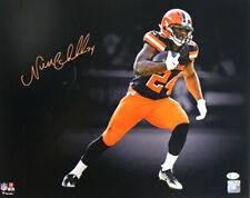Nick Chubb Autographed/Signed Cleveland Browns 16x20 Photo BAS 27619