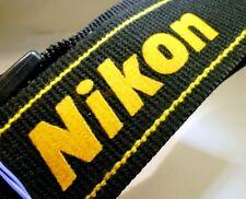 Nikon Black Yellow D5200 D5300 Camera Shoulder AN-DC3 Neck Strap Genuine OEM