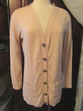 NWT Milly NEW Blush Pink Cardigan LG Large Jeweled 2Tiny Holes Retails $290 wool