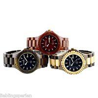 Damen Uhr Armbanduhr Quarzuhr Analog Watch Holz Farbwahl 24cm M12401 L/P