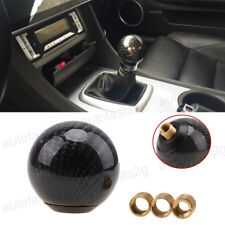 Carbon Fiber Black Manual Transmission Shift Knob Round Ball Gear M8/M10/M12 Kit