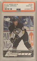 2015 2016 Daniel Sprong PSA 10 FOIL UPPER DECK YOUNG GUNS SILVER ROOKIE RC YG