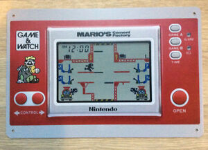 GAME AND WATCH - Mario''s Cement Factory Retro Videogame Metal Tin Sign Poster