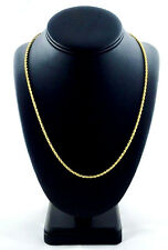 "Ion Plated Yellow Gold Stainless Steel Rope Chain Necklace (2.2 mm, 7.5 g, 24"")"