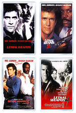 LETHAL WEAPON SET OF 4 FRIDGE MAGNET IMANES NEVERA