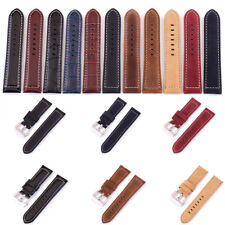11Type Fashion Mens Leather Watch Strap Watches Replace Band 20mm 22mm 24mm 26mm