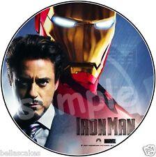 Eßbarer Tortenaufleger Robert Downey Jr Iron Man Geburtstagsdeko Party Deko neu