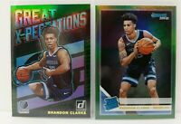 Brandon Clarke 2019-20 Donruss Rated Rookie Great X-Pectations Green Flood Pair