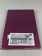 Tonpapier A4 Folia 100 Blatt purple Lila Papier Zeichenpapier 130g/m2 KomO