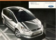 FORD S-MAX TITANIO singoli 2008 UK vendite sul mercato opuscolo 2.0 2.2 TDCi