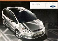 Ford s-max titane individuel 2008 uk market sales brochure 2.0 2.2 tdci