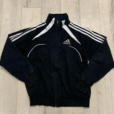 Vintage Adidas Casual Sport Wear Track Jacket Logo Full Zip Black Medium M