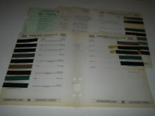 1940 STUDEBAKER PAINT CHIP CHART COLORS SHERWIN WILLIAMS PLUS MORE