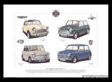 Mini Cooper Austin Mk1 S MkI Morris S Mk2 Mk3 Art Print