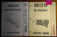 Gehl HA1210 Hay Attachment Owner Operator Manual 2/85 + Parts Service 9/97