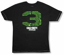 "CALL OF DUTY ""NAMES"" BLACK T-SHIRT NEW ADULT XL OFFICIAL MW3 MODERN WARFARE 3"
