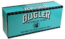 5 (Five) Bugler Full Flavor King Size Cigarette Tubes (200ct Carton) RYO/MYO