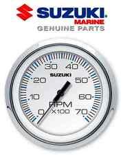 Suzuki Black Or White 4'' Tachometer BLK. 99105-80000, Wht. 99105-80100