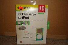 Memorex  Printable Wraps For iPod Mini 10 Sheets NEW in OPEN PACKAGE