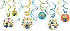 Minions Despicable Me Party Supplies SWIRL DECORATIONS Pack Of 12