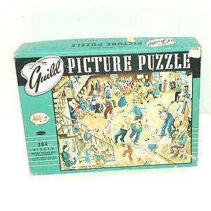 """Vintage Guild Picture Puzzle Title: Square Dance 304 pieces complete 18"""" x 14"""""""