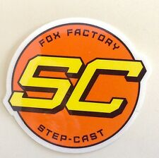 Genuine FOX FACTORY RACING  SC Step-cast Sticker Car Window Decal Bike Moto MTB