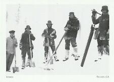 """*Postcard-""""Icemen"""" ...Ice Harvesting in Sierra/ *Truckee, CA (H13)"""