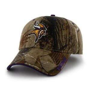 Minnesota Vikings 47 Brand  Hat Adjustable Cap RealTree Frost