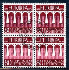 STAMP TIMBRE LIECHTENSTEIN OBLITERE BLOC DE 4 N° 779  EUROPA 1984