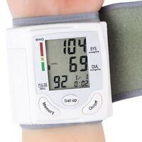 Digital LCD Wrist Blood Pressure Monitor Heart Beat Rate Pulse Meter Measure~XD