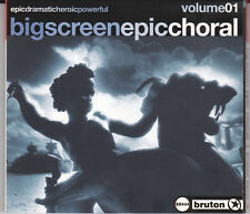 PROFESSIONAL LIBRARY MUSIC CD  BIG SCREEN EPIC  BRUTON BR444 BMG ZOMBA  NICE!
