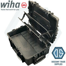 Wiha XXL Empty Tool Case Polypropylene Large Robust Rolling Mobile Storage Case