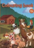 Colouring Book-Malbuch für Kinder-Bauernhof, Pferd, Schaf und viele andere #204