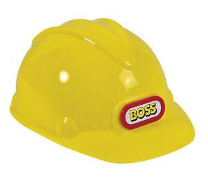 Kids Construction Helmet Childs Hat Accessory for Builder Fancy Dress Yellow Bob